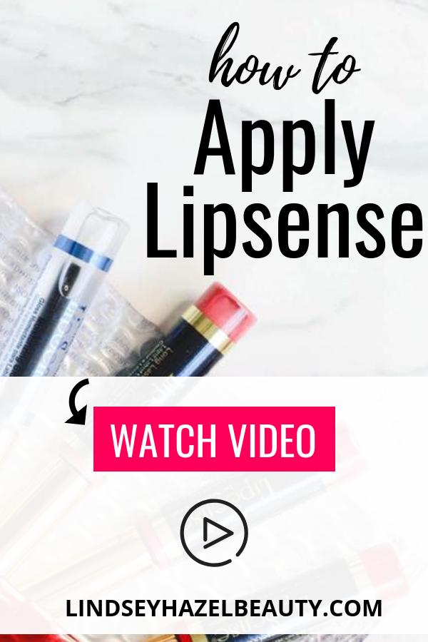 How to Apply Lipsense lindsey hazel beauty