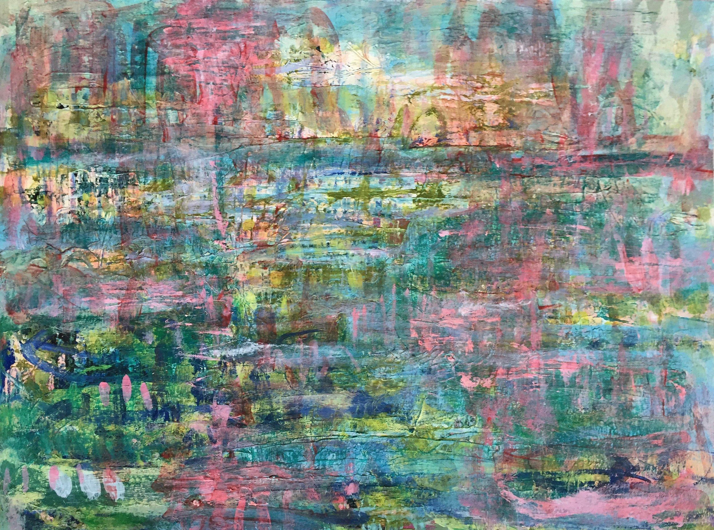 "Vibrant (4896) 9"" x 12""  Acrylic on Paper"