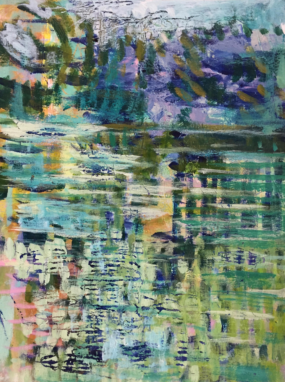 "Harmony (4898) 9"" x 12""  Acrylic on Paper"