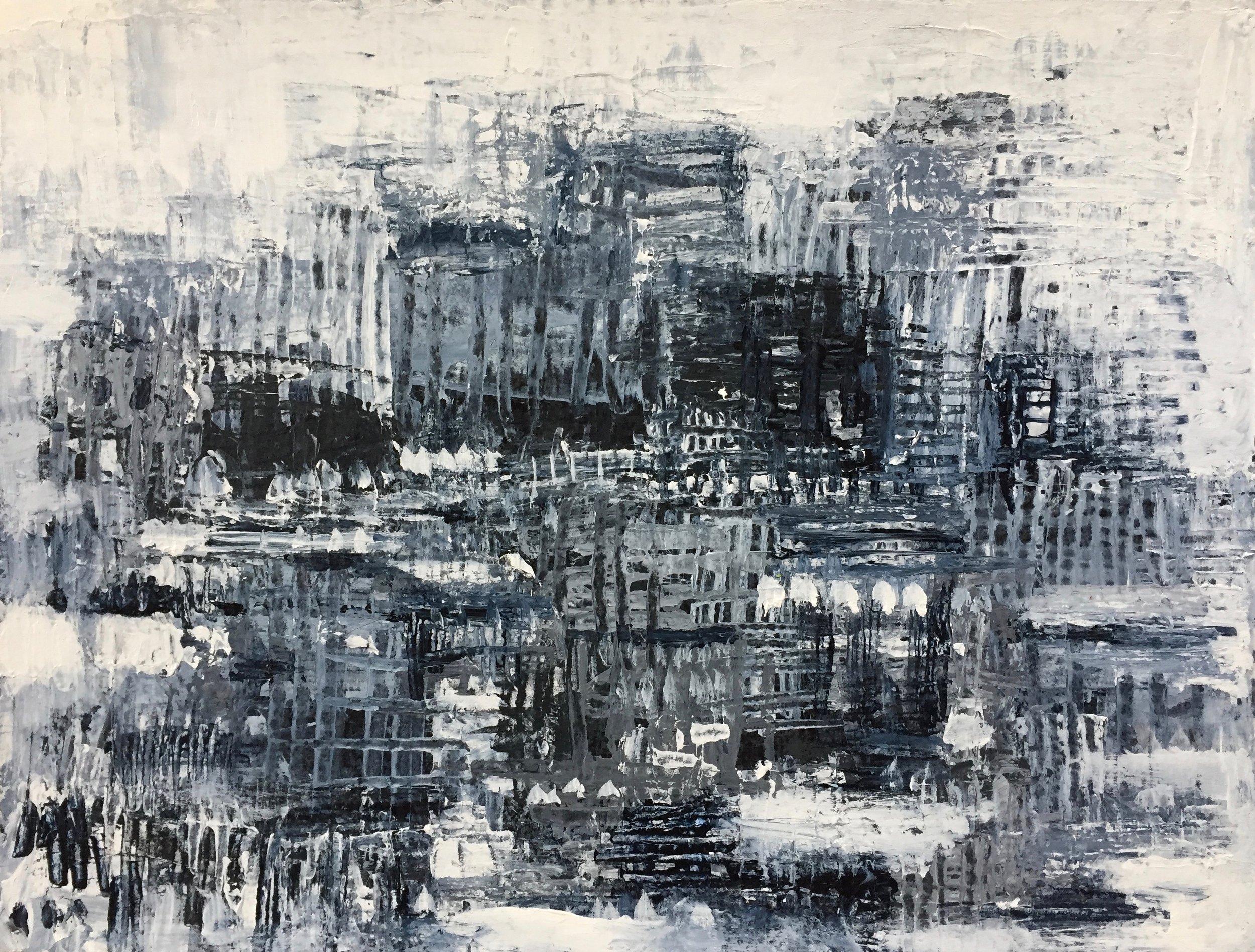 "Urban (4902) 9"" x 12""  Acrylic on Paper"