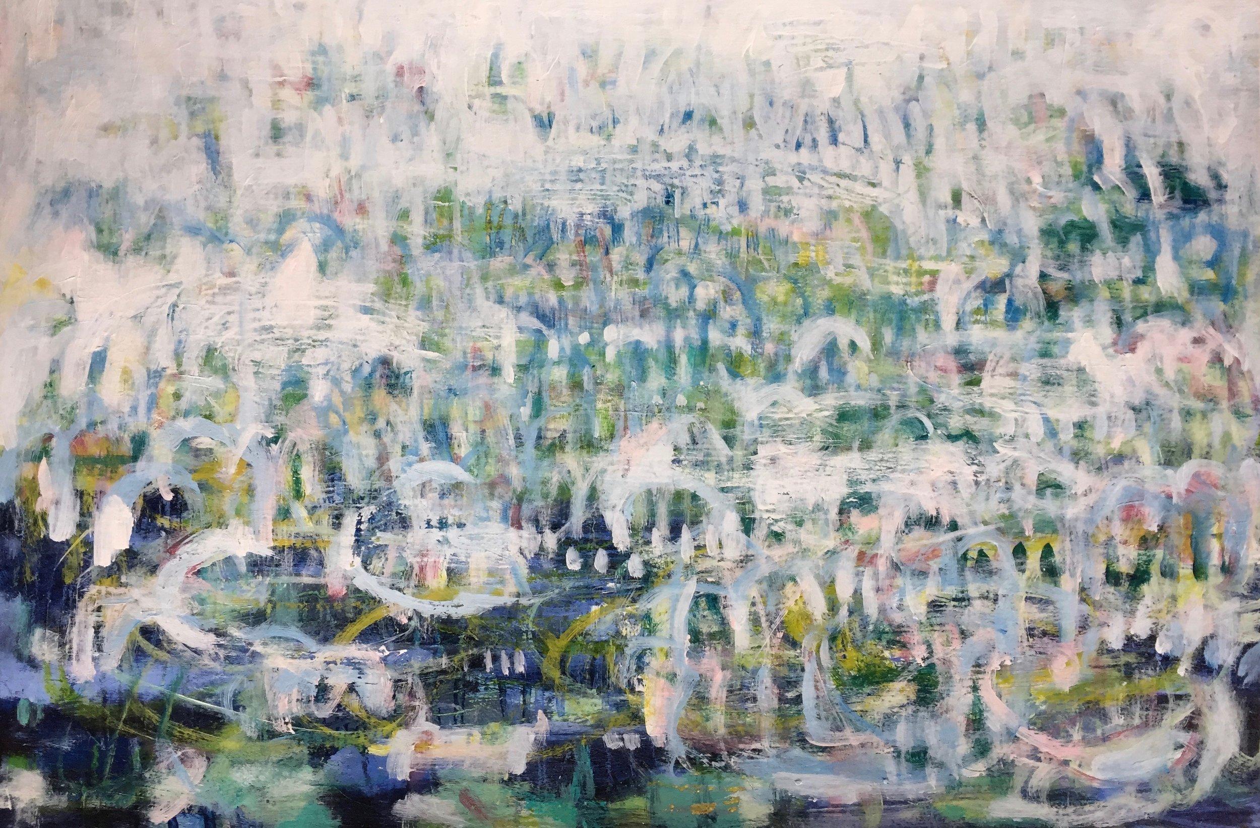 "Morning Mist (4920) 12"" x 18""  Acrylic on Paper"