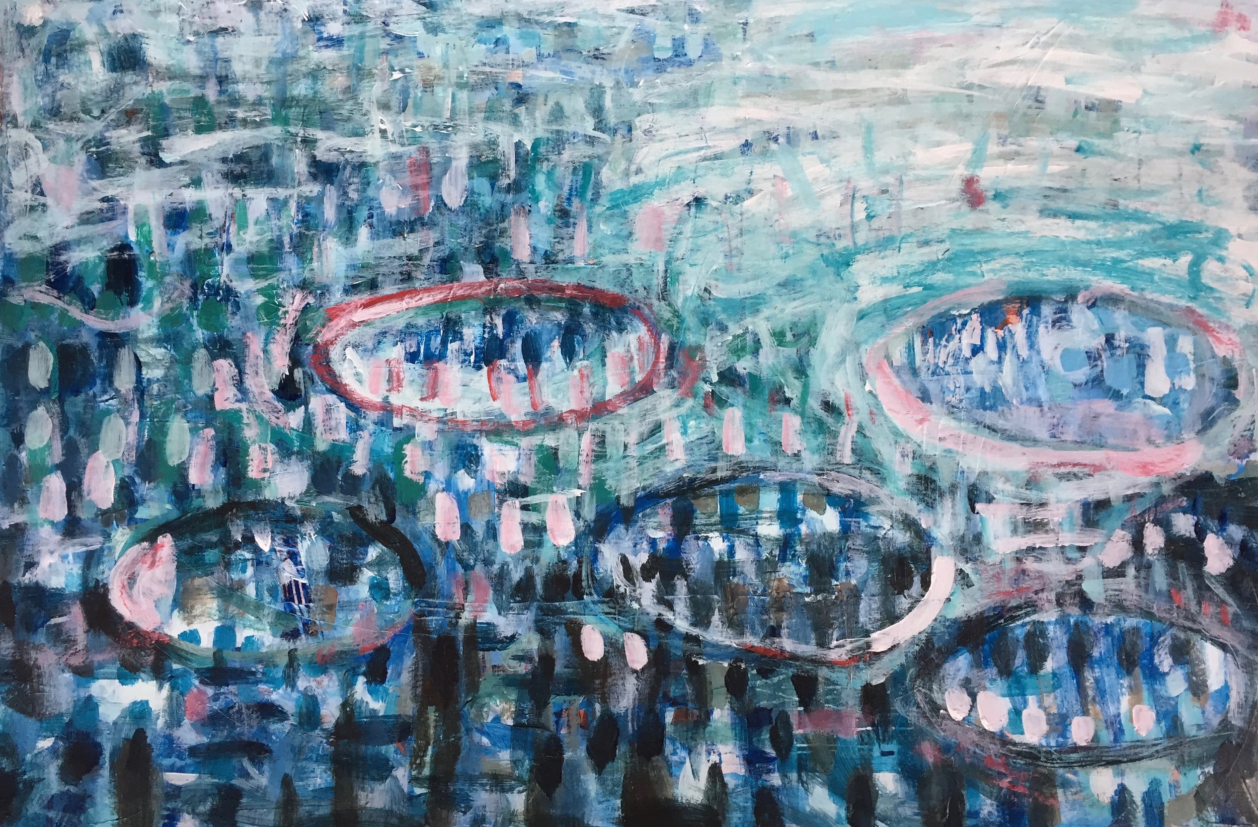 """Evening Light (4914) 12"""" x 18""""  Acrylic on Paper"""
