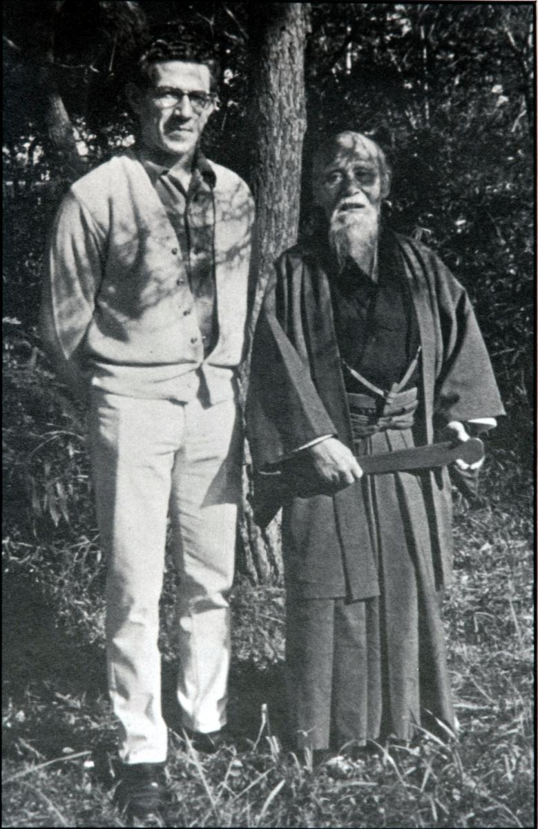 Morihei Ueshiba (Founder, Aikido) right | Robert Nadeau Shihan (Sensei, City Aikido) left