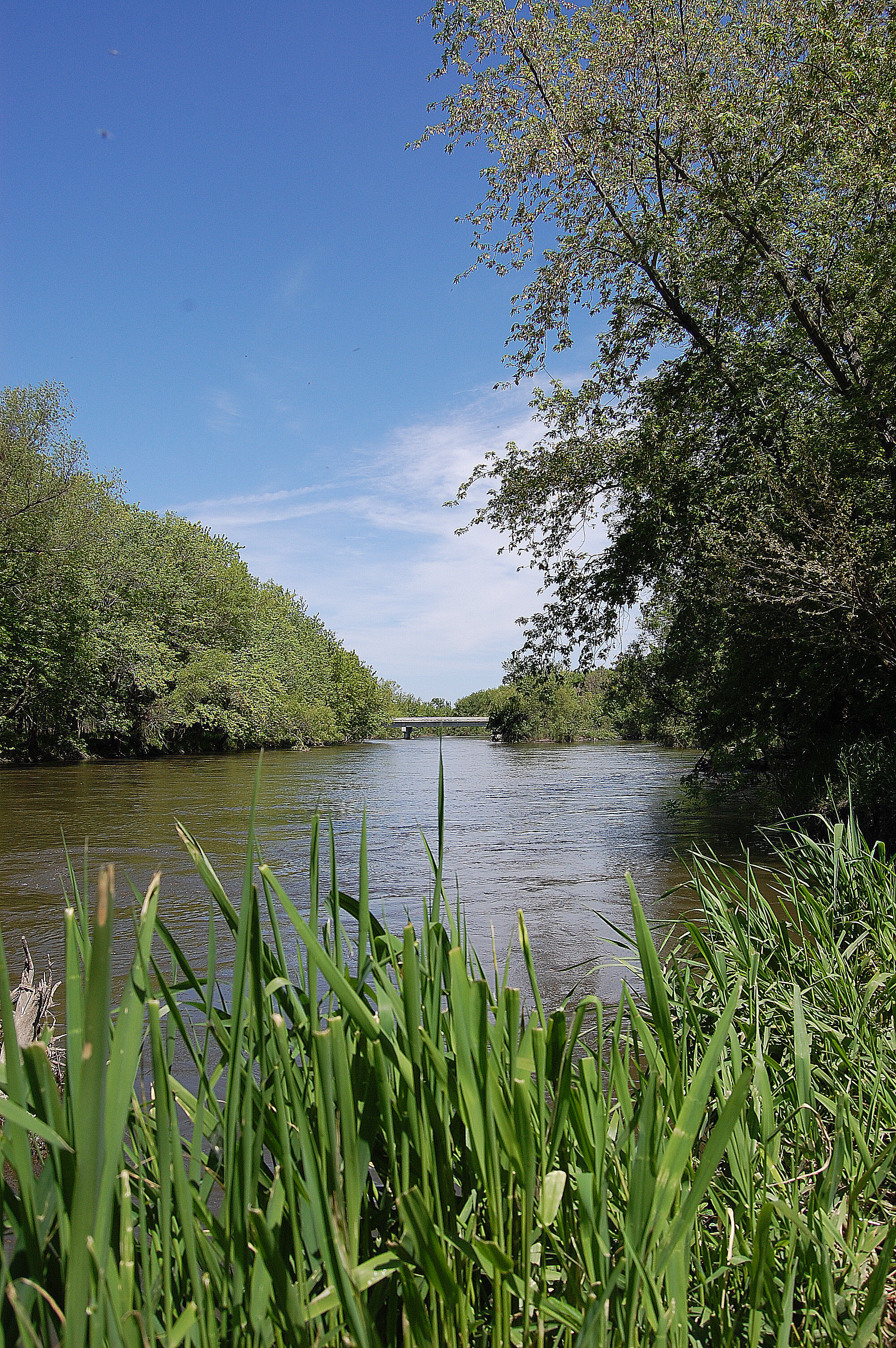The west branch of the Des Moines River, just a stone's throw from West Bend and a popular fishing destination during my youth.