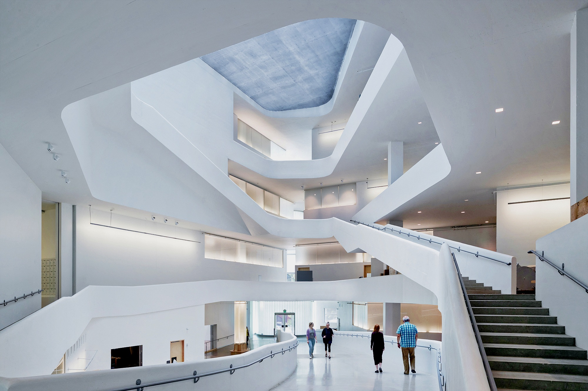 Enabling Flow  — Voided concrete slabs create more column free space and accommodate creativity.
