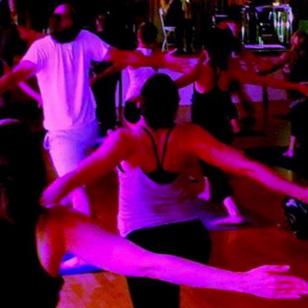 Black Market Yoga - students in open warrior 1
