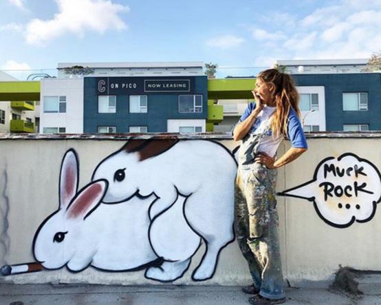 Jules Muck - graffiti artist - Humping Bunnies
