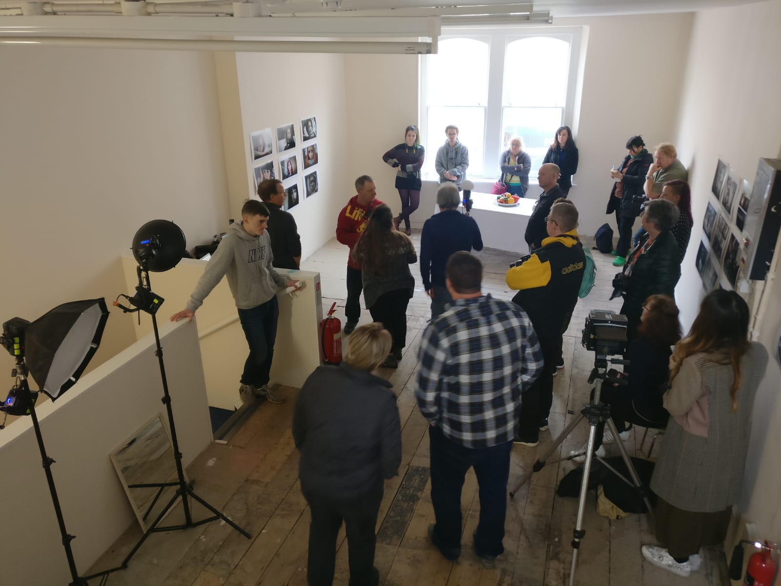 Photography workshop (led by Peter Goodrum and Paul Blakemore) at Weston Artspace, photo by Georgina Bolton