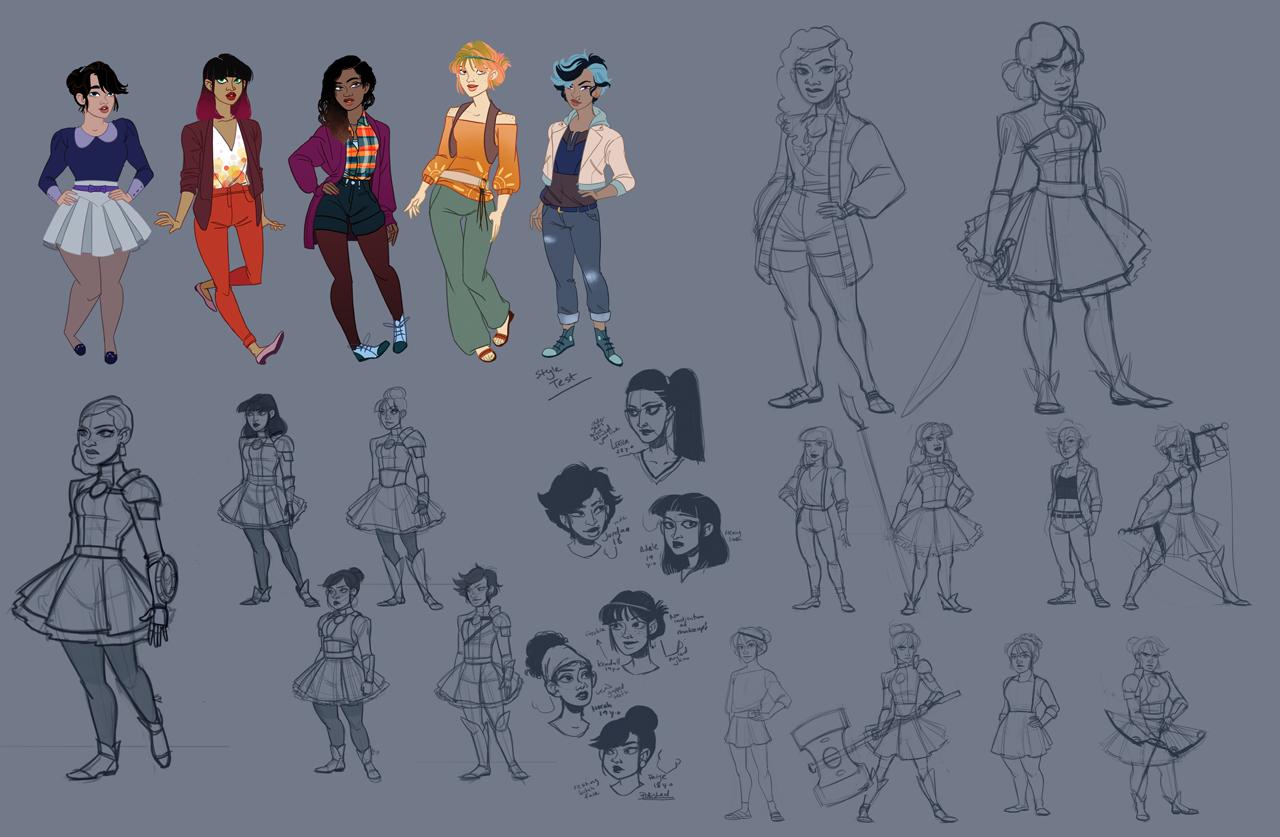 Character design evolution