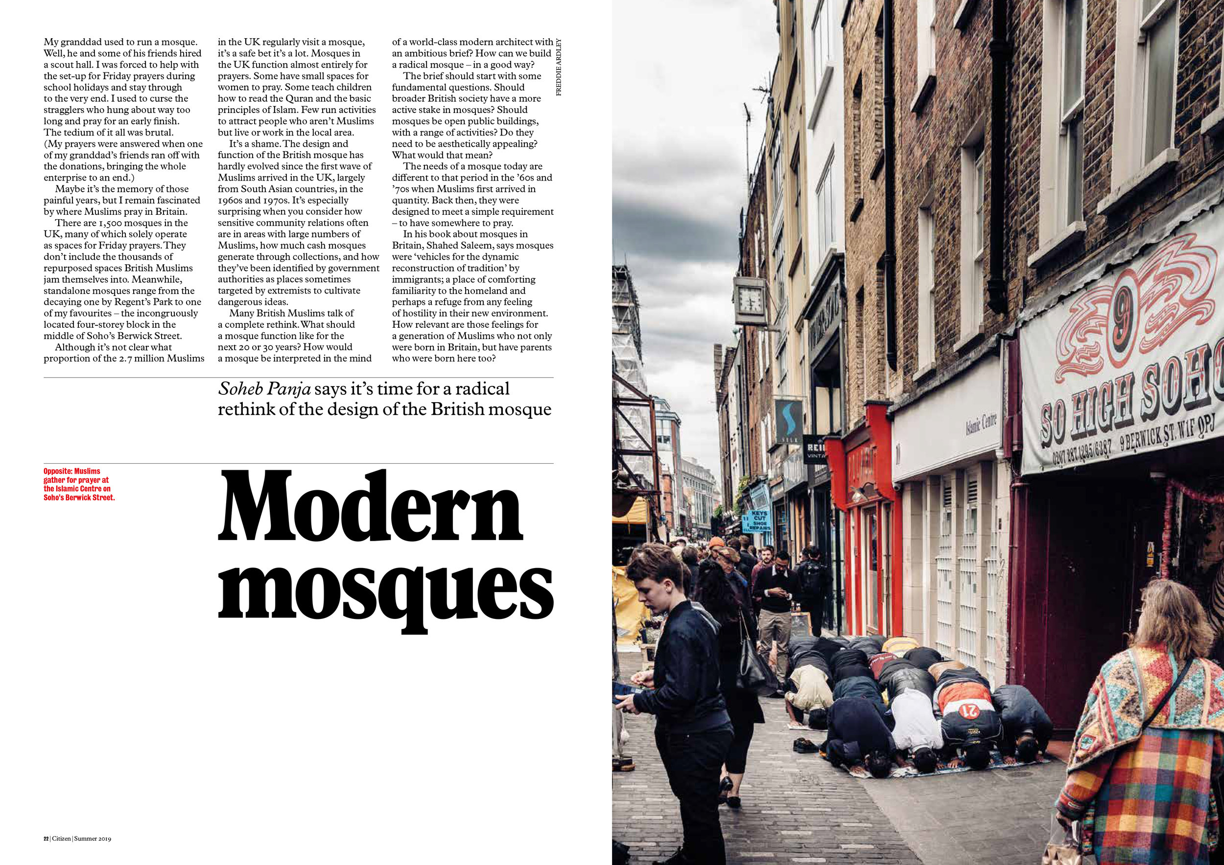 Modern Mosques. Photograph by Freddie Ardley.
