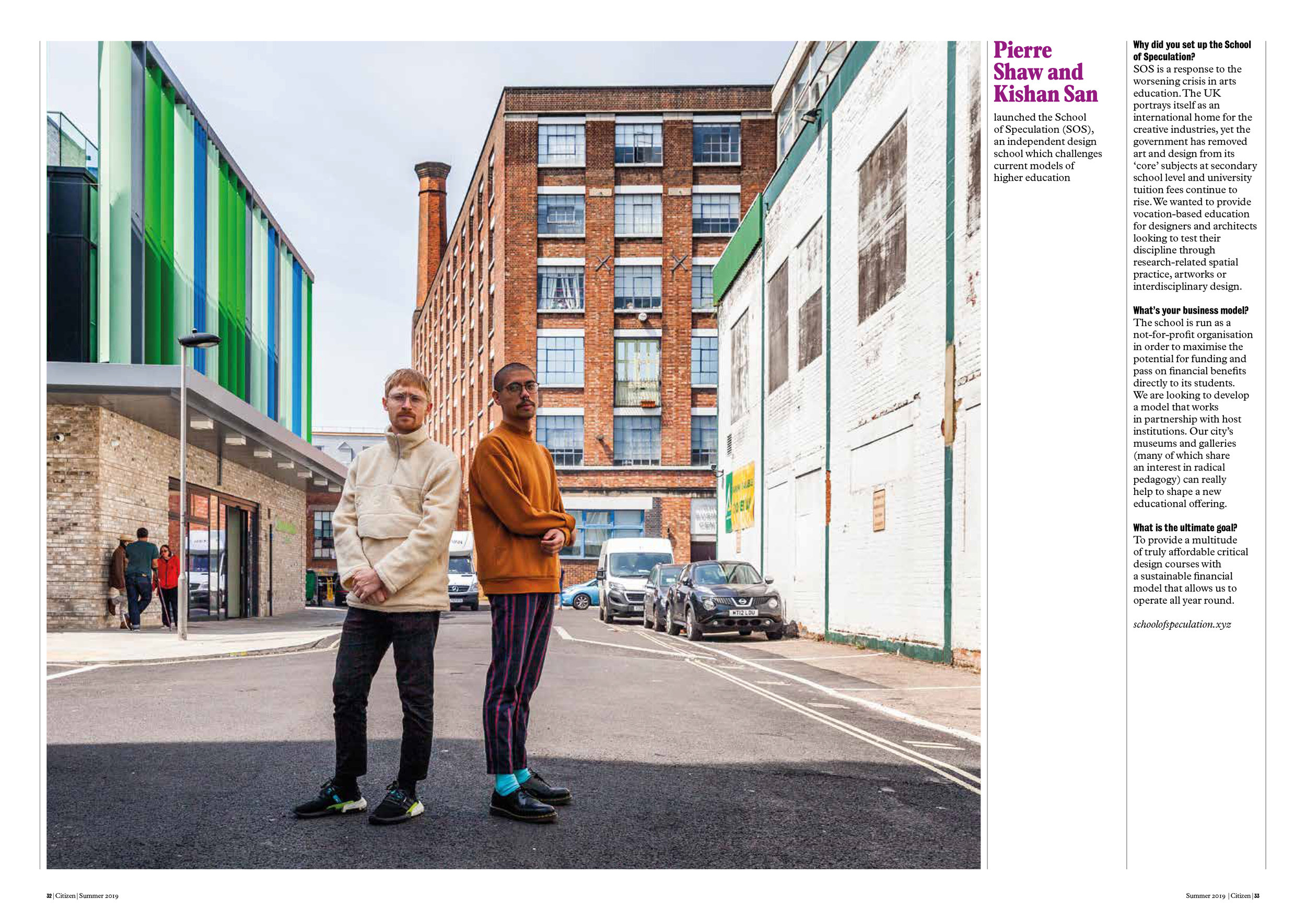 All Change Article featuring Pierre Shaw & Kishan San. Photograph by Freddie Ardley.