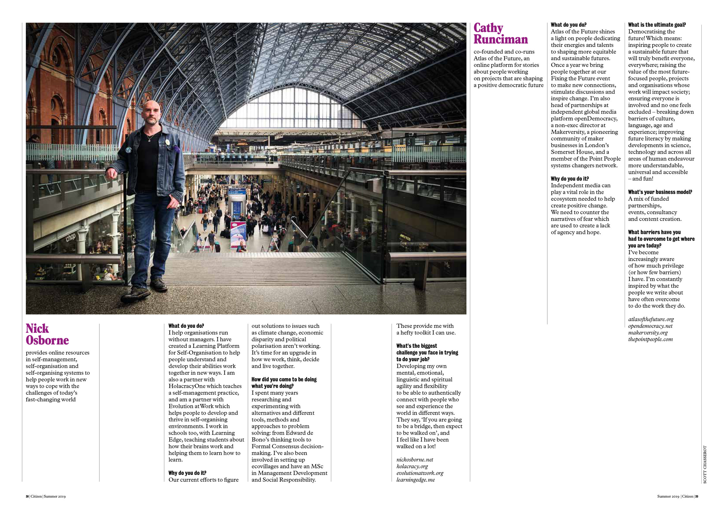 All Change Article featuring Nick Osborne. Photograph by Freddie Ardley.