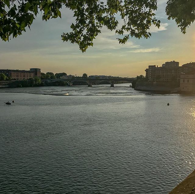 France is blessed with an indescribable light. It's even better at sunset, here on a summer evening in Toulouse.