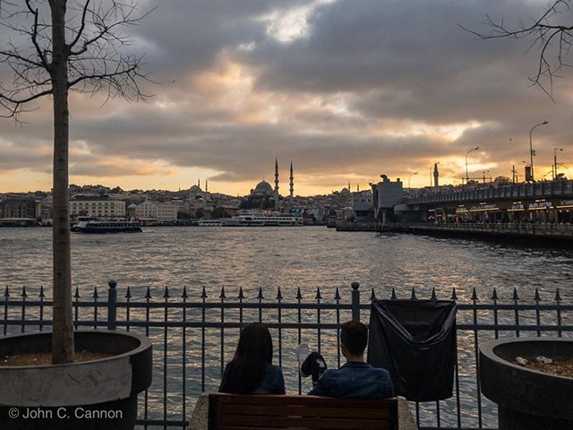 An evening on the Golden Horn in Istanbul.