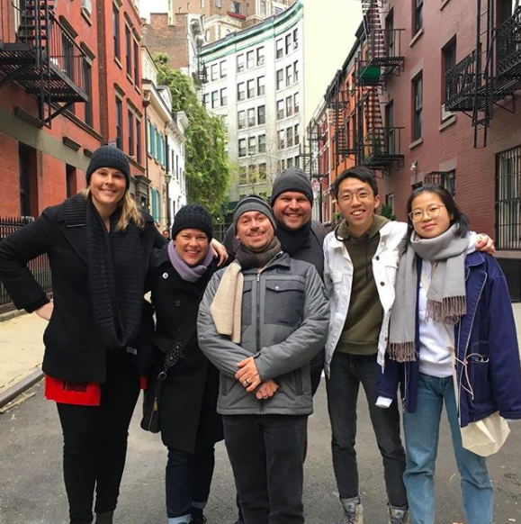 Tour group on Gay Street