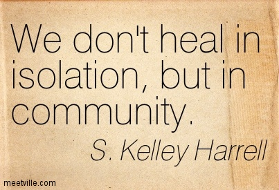 Recovery is sustained in community