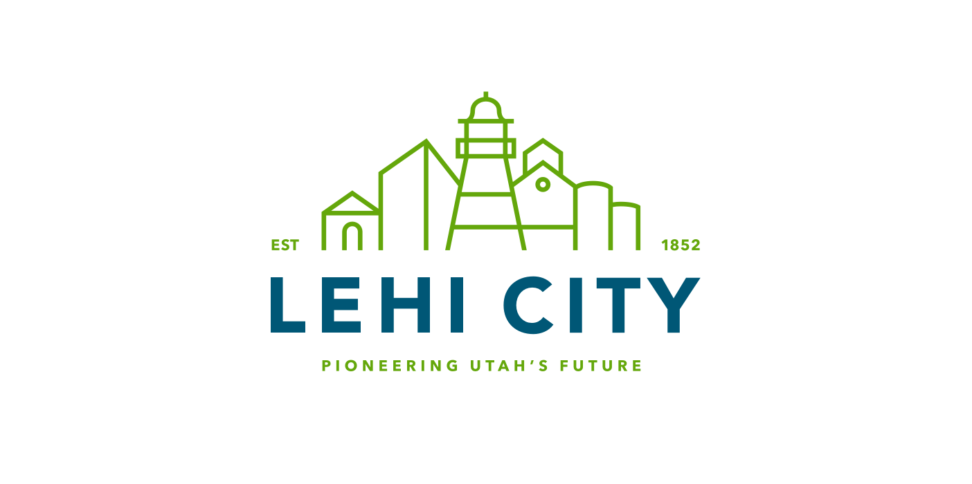 "The final chosen logo was   designed and conceived by Elise Bowen. After several rounds with the city council we decided to increase the weight of ""Lehi City"" after previously trying to match the line weight from the mark. At this point I set the typography, determined the logo variations, and designed the brand system."