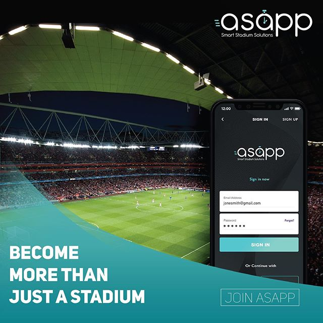 Become more than just a stadium! . . . #NoTimeWasted #inseatdelivery #expresspickup #advertisement #sports #football #soccer #delivery #stadiums #mobile #quick #service #tech #app #qatar #doha #food #drinks #merchandise #fast