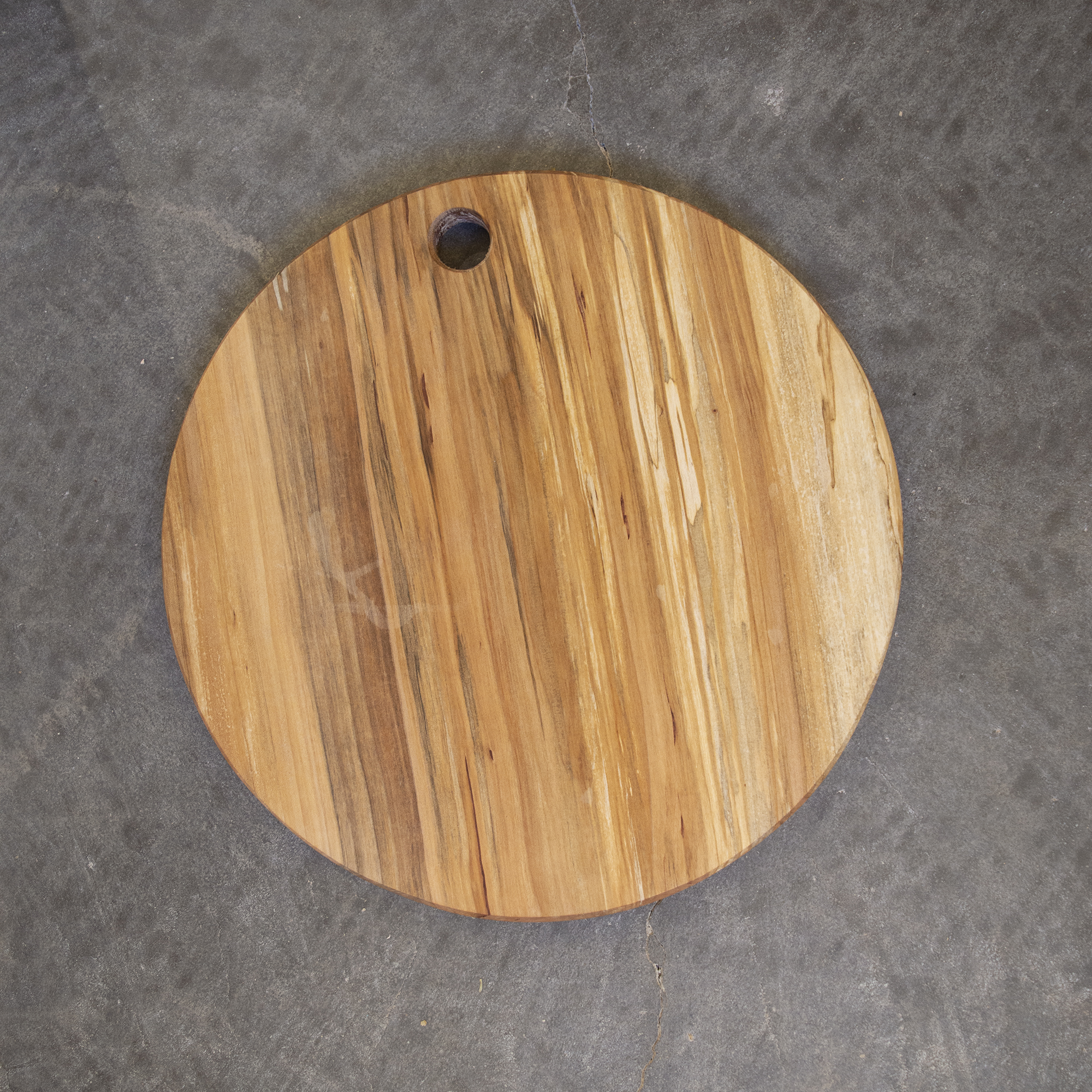Example of finished product. Spalted maple, 14 inch diameter
