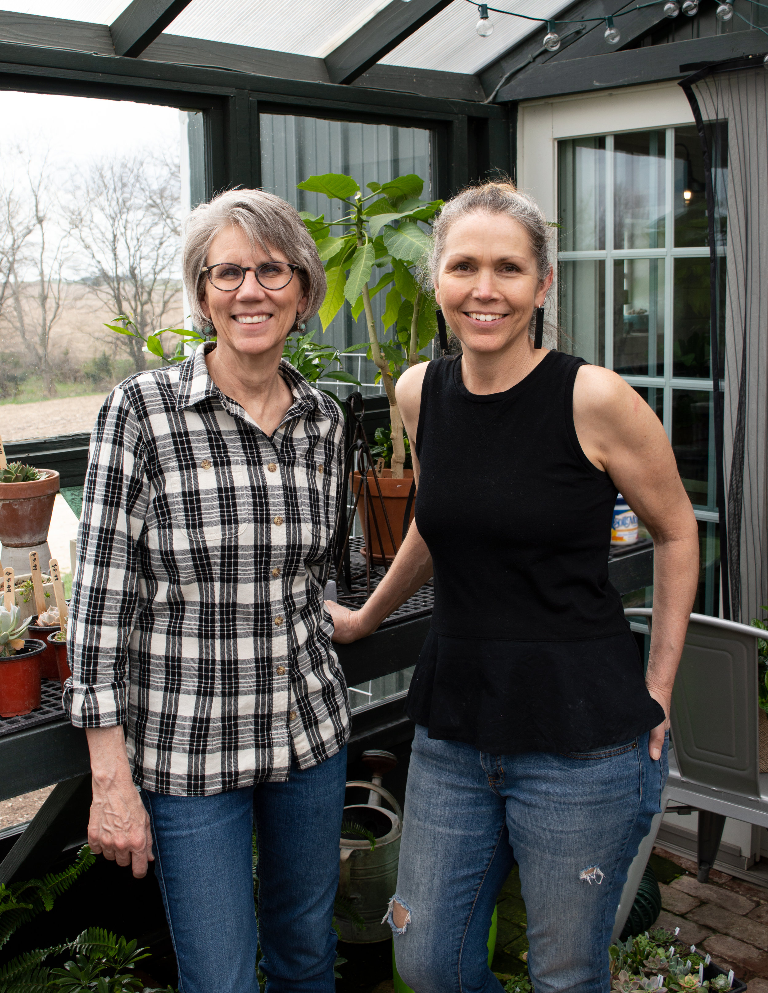 Jane Schlabaugh, of  Schlabaugh & Sons Woodworking  Kathryn Ney, of  Canaan Home & Farm