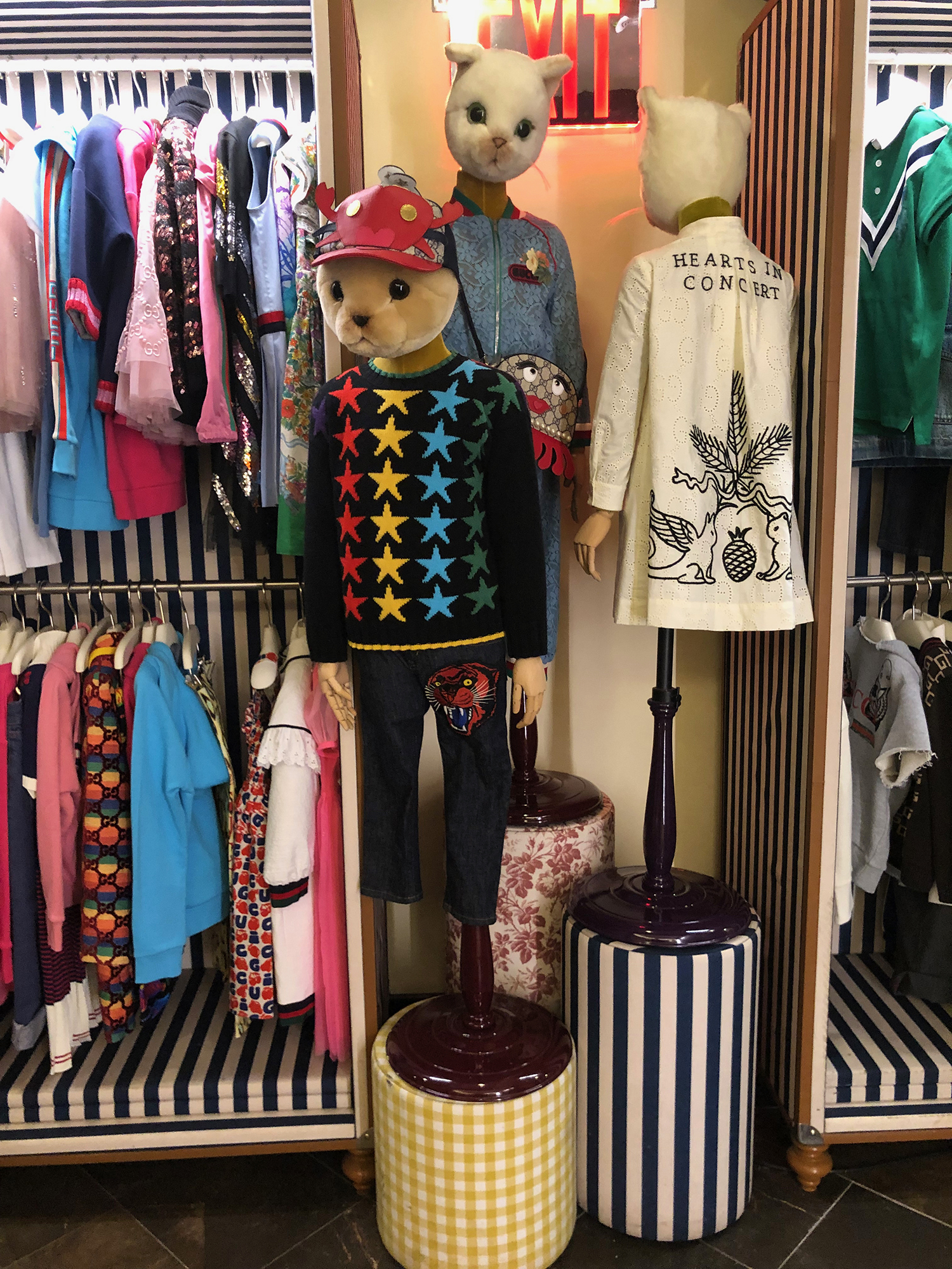 Gucci kids collection at Bergdorf Goodman in nyc!