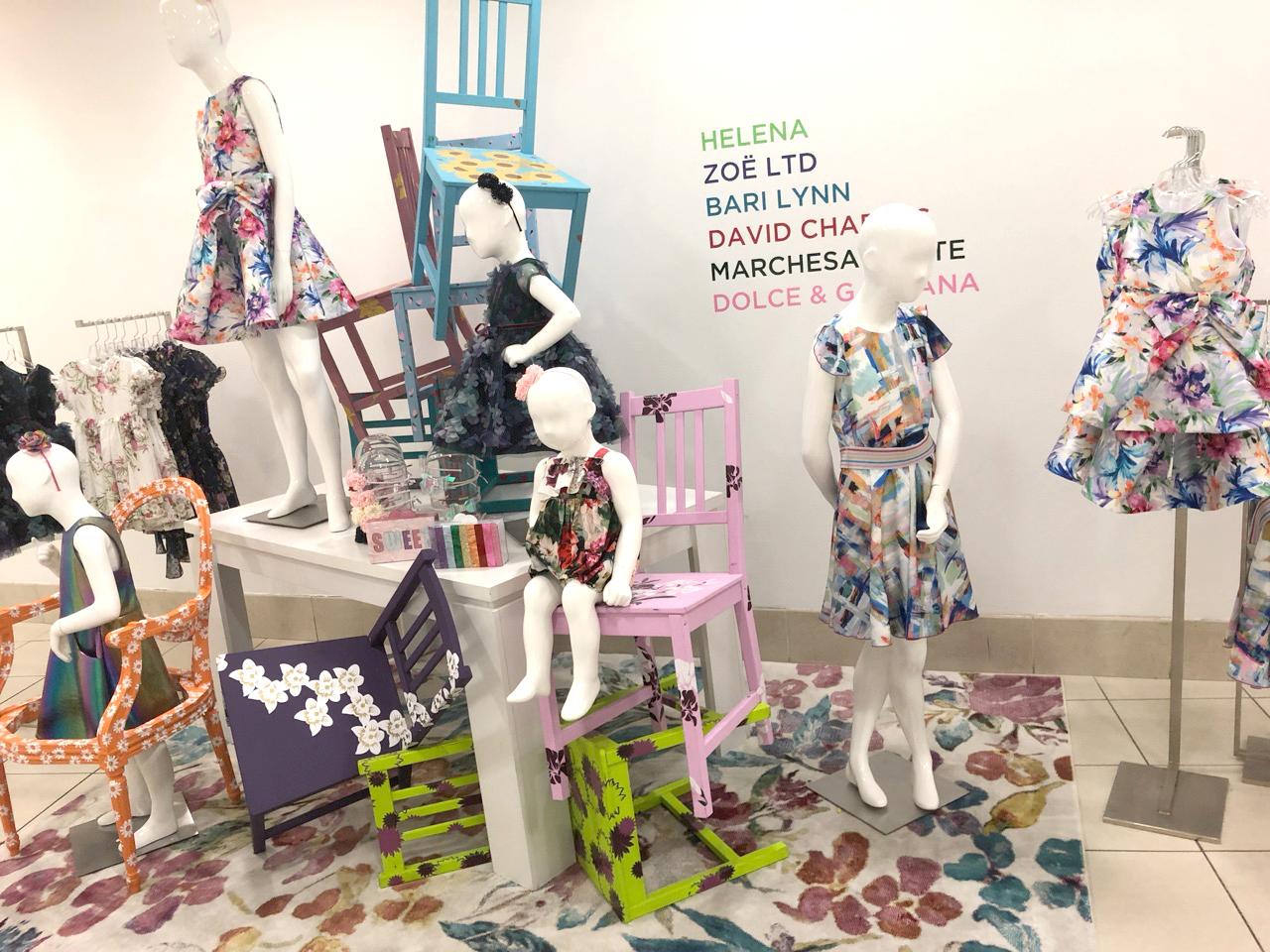 Spring 2019 collection display  Helena, Zoe LTD, Bary Lynn etc.
