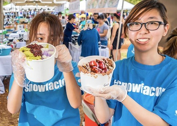 Cool off with our delicious cold dessert line selections! We will have three vendors - Snow Factory, Lucy's Lab Creamery and Hawaiian Honey Cones serving up refreshing treats to beat the summer heat.