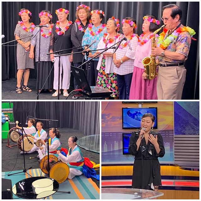Thank you @khonnews for a wonderful time this morning. We featured performances from @esna, the Singing Grandma's and Thunder Hawaii.