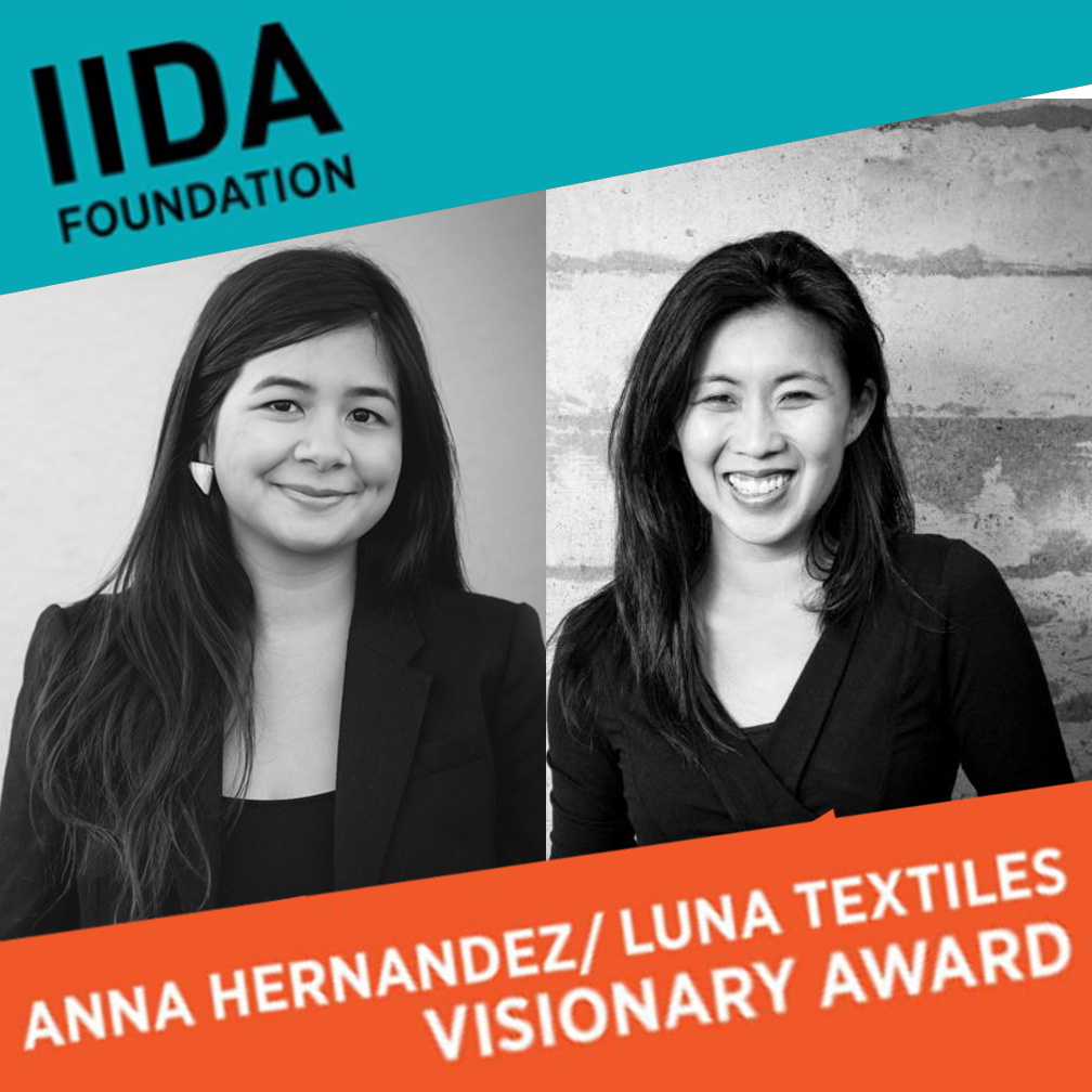 Visionary Award   Atelier Cho Thompson is proud to announce that they have been awarded the second annual Visionary Award from the IIDA Foundation Anna Hernandez/Luna Textiles Award. This award recognizes a visionary female business owner whose firm specializes in interior design or product design. The fund was established to honor the memory of Anna Hernandez, the award-winning founder and president of Luna Textile. Check out the press release here:  Visionary Award, IIDA Foundation Anna Hernandez Luna Textiles Award