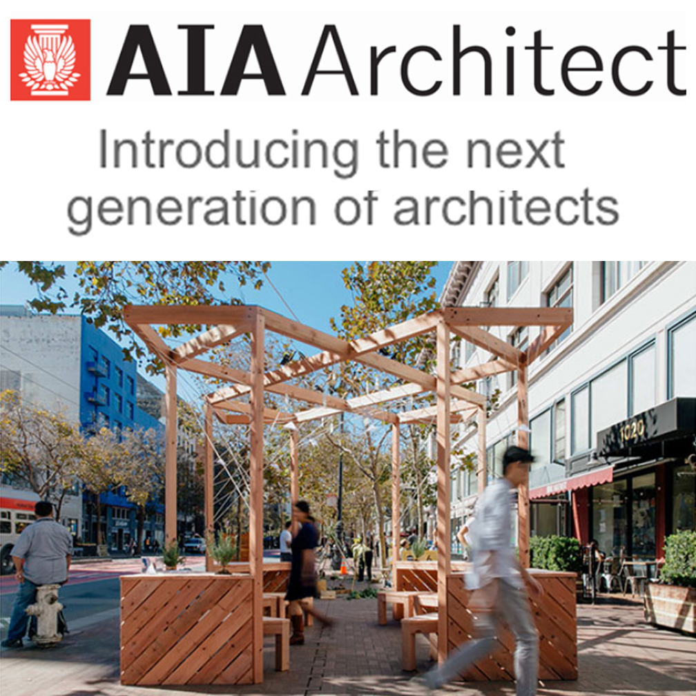 """AIA Citizen Design   Atelier Cho Thompson's work on the Community Prototype for the Market Street Prototyping Festival was featured in an exhibition entitled """" Citizen Design """" at the AIA National Convention in 2017. The Prototype, entitled """"Swallowtail,"""" is a pavilion designed by and for the people of the Central Market neighborhood of San Francisco, offering a serene community space in the city."""