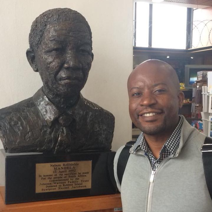 Bust of Nelson Mandela, Cape Town, South Africa - 2017