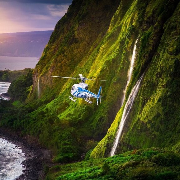 Waterfalls of Kohala Big Island Tour. #bigisland #helicopter #kohalacoast