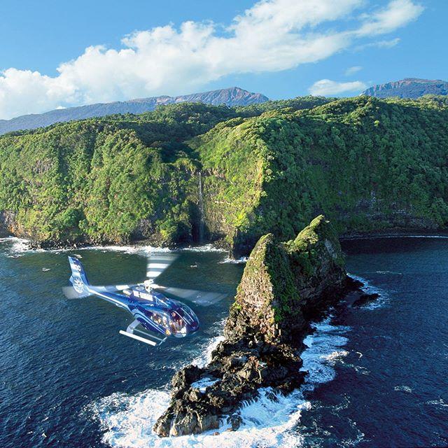 Jurassic Rock on Blue Hawaiian Hana/Haleakala Tour. #jurassicpark #hana #bluehawaiian #mauihelicopters