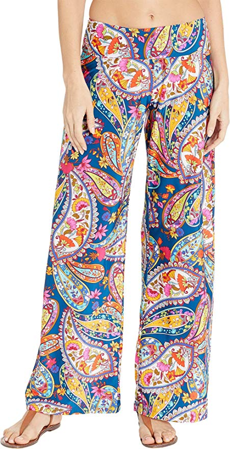 Trina Turk Paisley Cover Up Pants