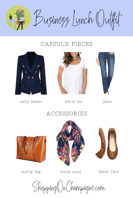 What to wear to a business lunch: capsule wardrobe + accessories
