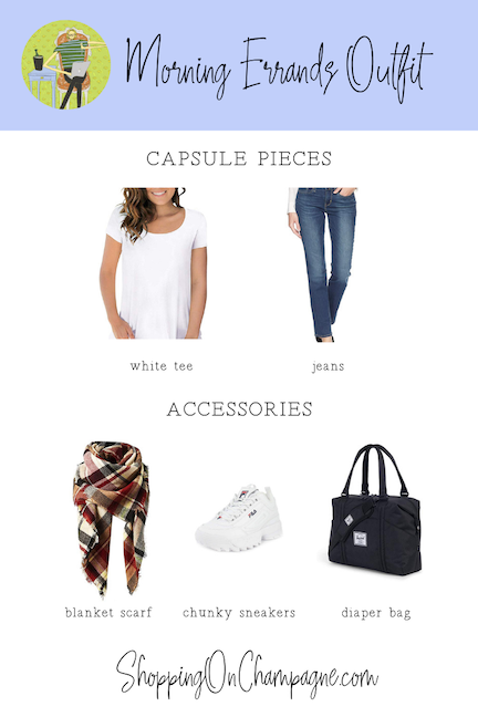 Morning Errands Outfit with Capsule Wardrobe Pieces + Accessories