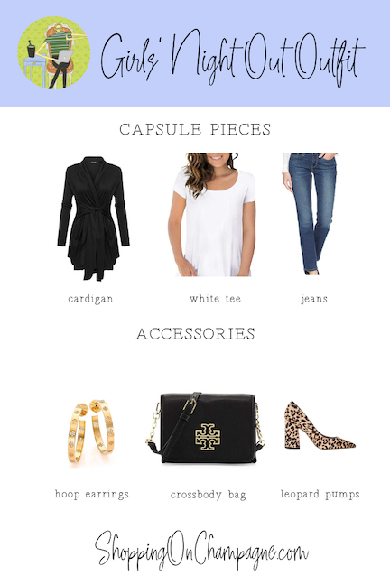 What to Wear for a Girls' Night Out - Capsule Wardrobe + Accessories