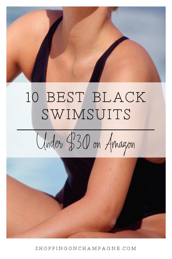 10 Best Black One Piece Swimsuits Under $30 on Amazon