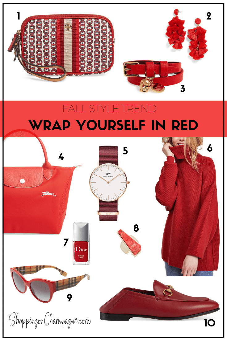 Fall Fashion Style Trend: Wrap Yourself in Red