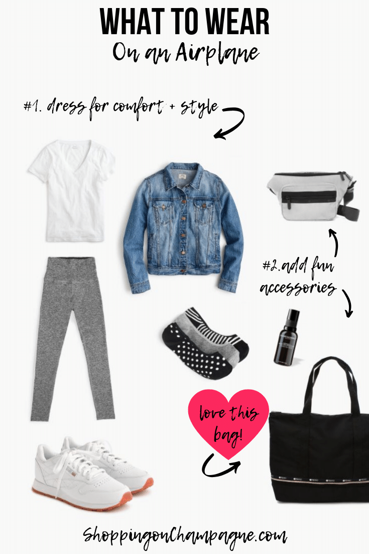 What to Wear on a Plane + Tips and Tricks for a Comfortable Flight!