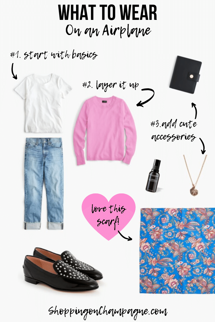What to Wear on an Airplane: Look Number 1