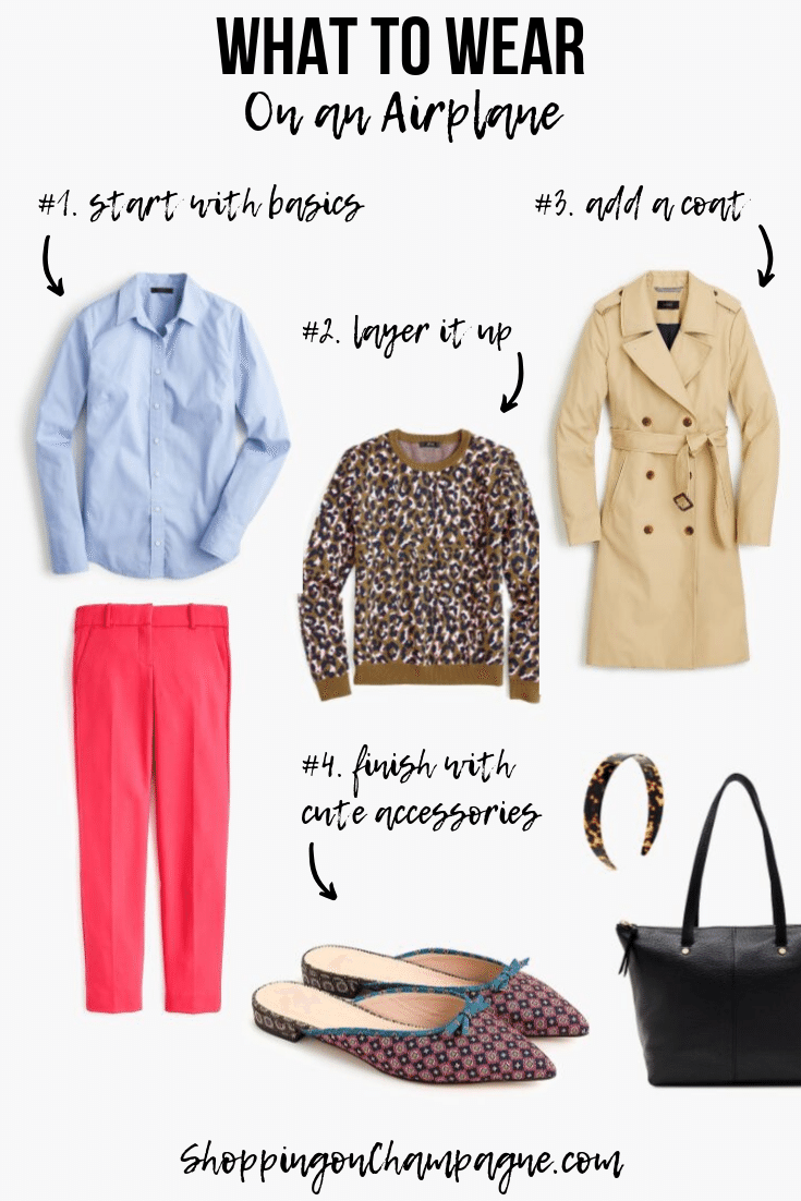 What to Wear on a Plane - Outfit Idea for Work or Casual Travel