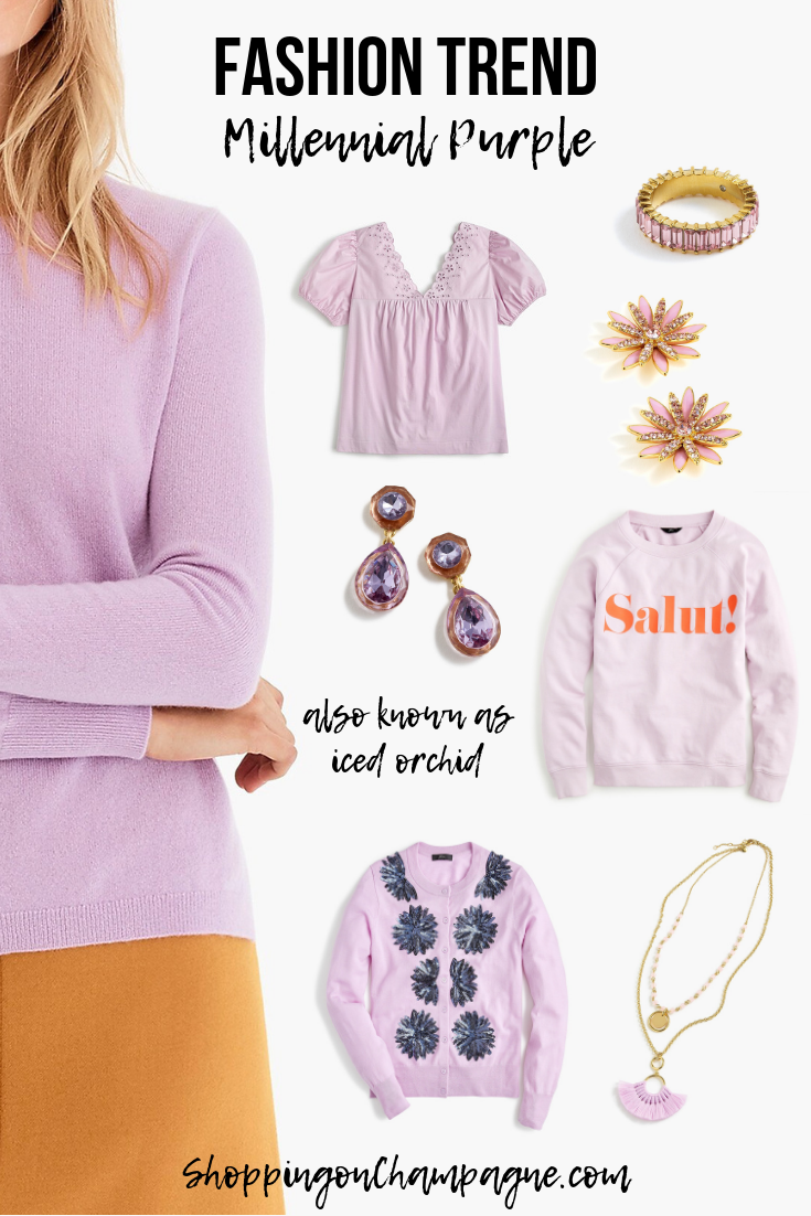 Fashion Trend to Wear Now: Millennial Purple (also known as Iced Orchid)