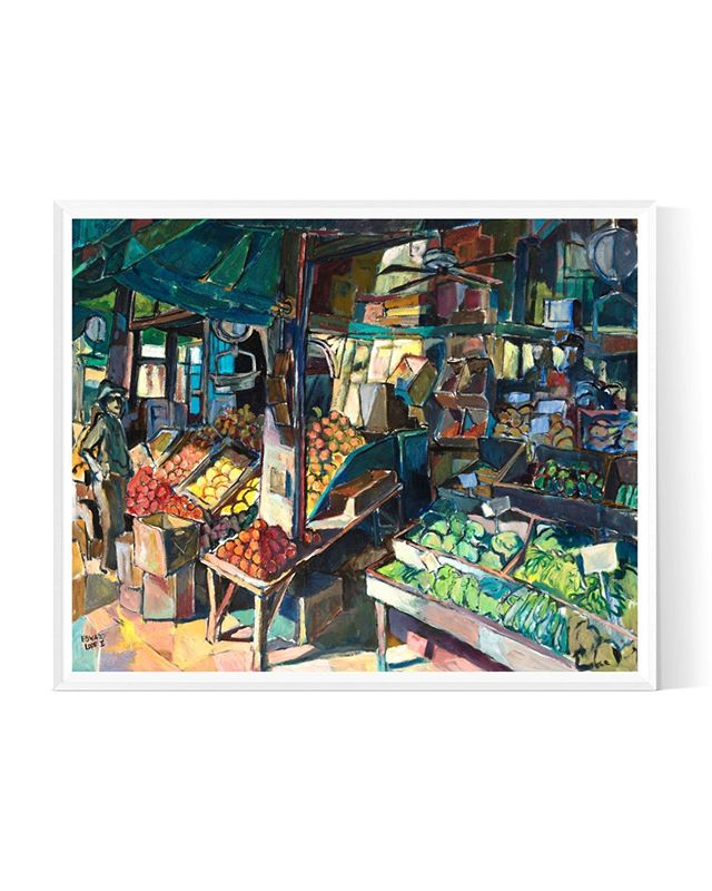 """King Street Market"" See more of Edward Loper Jr arts by checking out his portfolio - link in bio. ⠀⠀⠀⠀⠀⠀⠀⠀⠀ ⠀⠀⠀⠀⠀⠀⠀⠀⠀⠀⠀⠀⠀⠀⠀⠀⠀⠀⠀⠀⠀⠀⠀⠀⠀⠀⠀⠀⠀⠀ ⠀⠀⠀⠀⠀⠀⠀⠀⠀ #edwardloperart #sketch #painting #draw #instaart #creative #canvas #acrylic #oilpainting #canvasart #painting #painter #paint #nuest #contemporaryart #뉴이스트"
