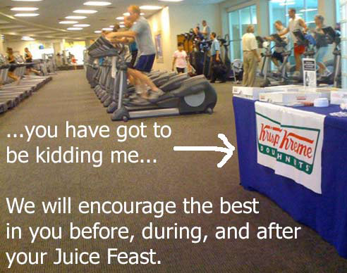 Krispy Kreme donuts offered at the gym? Honestly…