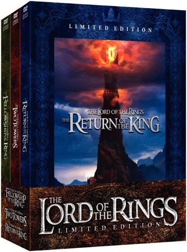 [Film Series DVD] The Lord of The Rings Trilogy - The Lord of the Rings: The Fellowship of the Ring: As the triumphant start of a trilogy, The Lord of the Rings: The Fellowship of the Ring leaves you begging for more. By necessity, Peter Jackson's ambitious epic compresses J.R.R. Tolkien's classic The Lord of the Rings, but this robust adaptation maintains reverent allegiance to Tolkien's creation, instantly qualifying as one of the greatest fantasy films ever made. At 178 minutes, it's long enough to establish the myriad inhabitants of Middle-earth, the legendary Rings of Power, and the fellowship of hobbits, elves, dwarves, and humans–led by the wizard Gandalf (Ian McKellen) and the brave hobbit Frodo (Elijah Wood)–who must battle terrifying forces of evil on their perilous journey to destroy the One Ring in the land of Mordor. Superbly paced, the film is both epic and intimate, offering astonishing special effects and production design while emphasizing the emotional intensity of Frodo's adventure. Ending on a perfect note of heroic loyalty and rich anticipation, this wondrous fantasy continues in The Two Towers (2002). –Jeff ShannonThe Lord of the Rings: The Two Towers is a seamless continuation of Peter Jackson's epic fantasy based on the works of J.R.R. Tolkien. After the breaking of the Fellowship, Frodo (Elijah Wood) and Sam (Sean Astin) journey to Mordor to destroy the One Ring of Power with the creature Gollum as their guide. Meanwhile, Aragorn (Viggo Mortensen), Legolas (Orlando Bloom), and Gimli (John Rhys-Davies) join in the defense of the people of Rohan, who are the first target in the eradication of the race of Men by the renegade wizard Saruman (Christopher Lee) and the dark lord Sauron. Fantastic creatures, astounding visual effects, and a climactic battle at the fortress of Helm's Deep make The Two Towers a worthy successor to The Fellowship of the Ring, grander in scale but retaining the story's emotional intimacy. These two films are perhaps the