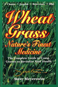 """Meyerowitz on Wheatgrass… - Chlorophyll has the ability to heal infected and ulcerated wounds. In his book, Chlorophyll – Natures Green Magic, Dr. Theodore Rudolph showed in his experiments that """"tissue cell activity and its normal re-growth are definitely increased by using chlorophyll.""""This makes it an important medicine for healing bleeding gums, canker sores, trench mouth, pyorrhea, gingivitis, even sore throat. Chlorophyll has the unique ability to be absorbed directly through all mucous membranes, especially those of the nose, throat, and digestive tract. It makes an excellent dentifrice, especially when used in the powdered form, and a great mouth wash.Chlorophyll's unique ability to kill anaerobic-odor producing bacteria–is the reason it covers up the smell of garlic, fights bad breath, body odor, and acts as a general antiseptic. These bacteria live without air and are destroyed by chlorophyll's oxygen producing agents.Although major scientific studies are lacking, chlorophyll is likely to be one of the primary factors behind the effectiveness of grass juice as an anti-cancer agent. Dr. Otto Warburg, the Nobel prize winner for physiology and medicine in 1931, concluded that oxygen deprivation was a major cause of cancer.There is at least one alternative cancer therapy today in which cancer is bombarded with highly active oxygen or ozone. Unlike the chemotherapy drugs, however, this green medicine has never been found to be toxic at any dose.In fact, not one of the 4,700 species of grasses that cover 3/4 of our planet is poisonous. What is surprising is that more attention hasn't been given to chlorophyll and grass juice as potent healers."""