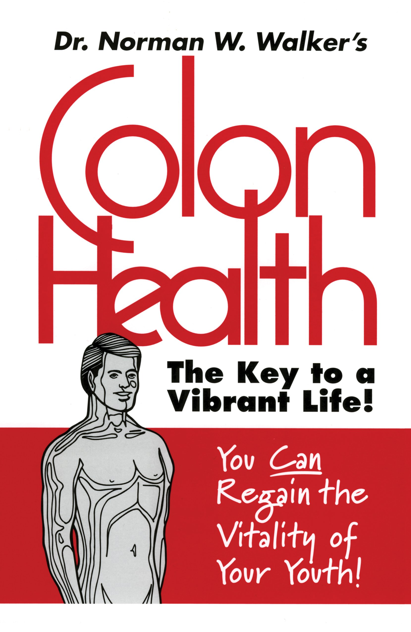 colon health: key to vibrant life - by Norman WalkerDr. Walker focuses your full attention on this forgotten part of the body. He will lead you on a tour of each vital organ of your body explaining how it is affected by the condition of the large intestine, the colon. Learn how through proper care of the colon you can prevent and experience relief from constipation, asthma, colds, allergies, respiratory disorders, digestive problems and numerous other ailments.Dr. Norman W. Walker is one of the pioneers of the raw foods movement and is recognized throughout the world as one of the most authoritative voices on life, health and nutrition. Dr. Walker shares his secret to a long, healthy, productive life through his internationally famous books on health and nutrition.