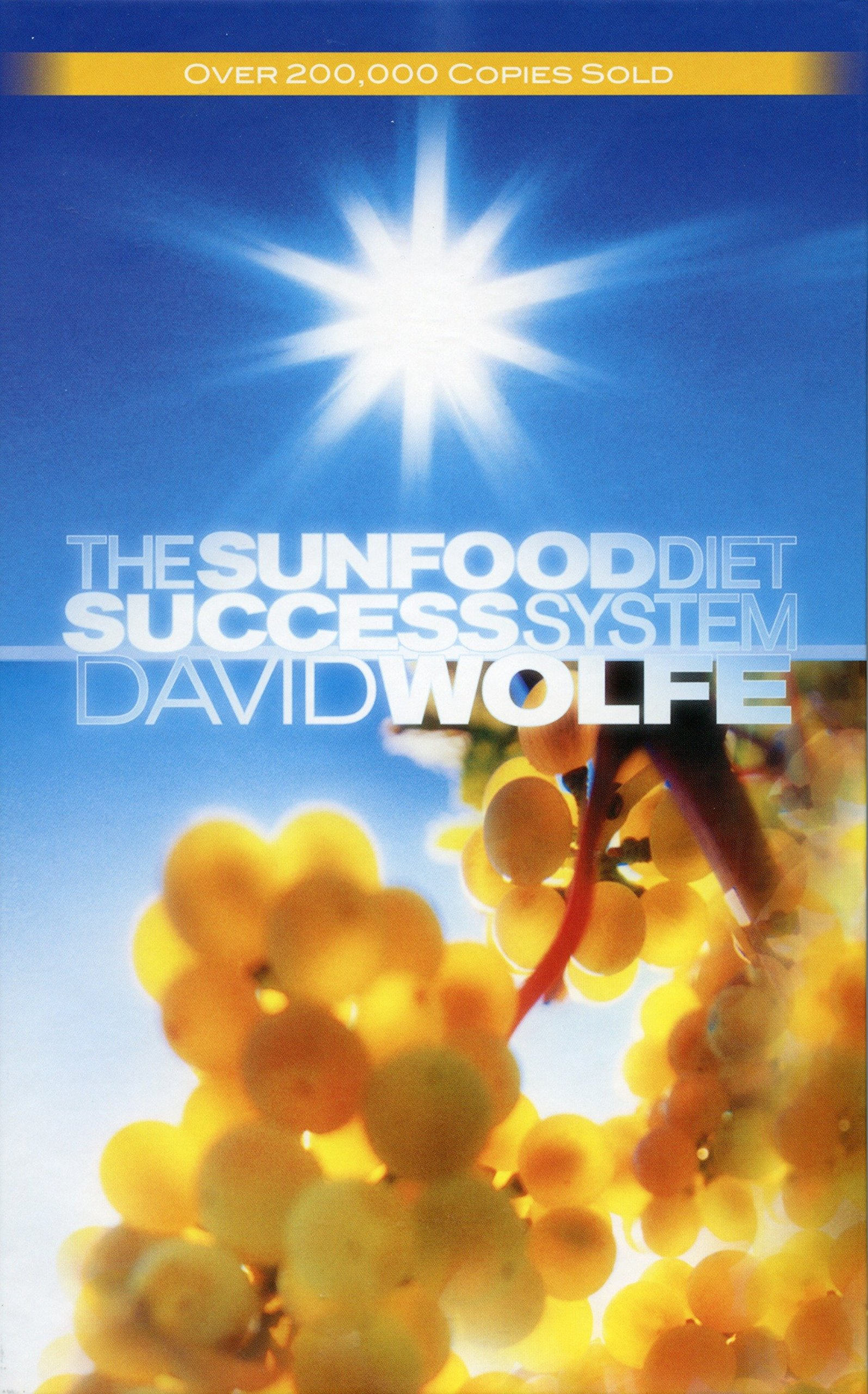"the sunfood diet success system - by David Wolfe—Reviewed by Dan JerkeThis was my first book that got me into the ""raw movement."" It changed my life, touching every aspect of my being. I cannot express my gratitude toward David Wolfe for creating this masterpiece. Anyone seeking a life of optimism, joy, and success on a personal level should own The Sunfood Diet Success System!Wolfe's book contains 36 chapters of health transformation. Only ten or so of these specifically deal with the diet, while the book's key focus is on the mental transformation required. Each chapter has exercises at the end for the physical (diet) and mental changes. As recommended by David, keeping a journal and log of your diet will help with the transformation. The book begins with six chapters that ask you to take a look into your life. ""Beliefs,"" ""Goals,"" ""Thoughts are Things,"" and ""Faith"" are a few of the chapters that promote your well-being on a spiritual level.Starting with chapter 7, ""The Sunfood Diet,"" the book introduces us to the diet of uncooked fruits, vegetables, and nuts. For those of you who have been wondering about this lifestyle, it's eating foods in their natural, unadulterated state. It is a step further than veganism, being called ""raw-veganism."" David thoroughly covers all aspects of eating raw. Items discussed are detoxification, food-combining, the SunFood Triangle (new pyramid), hybridized food, common questions, myths, and the wonders of a diet free of toxicity.""Your idea of the world (what you believe the world is) manifests everything in your life. When you change your idea of the world, the world itself changes. Essentially, your mission isn't to set the world right, but simply to set yourself right. The world does not change, we change."""
