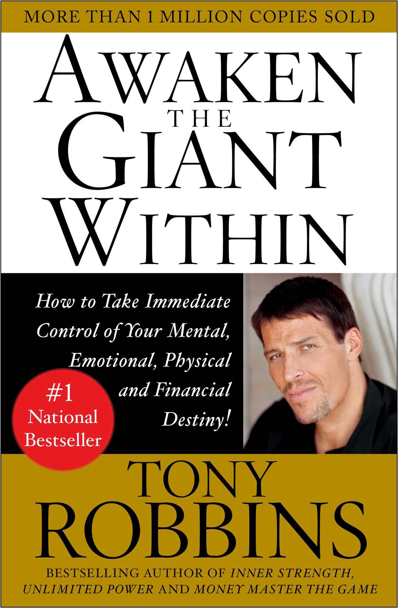 awaken the giant within - by Anthony RobbinsAnthony Robbins, the nation's leader in the science of peak performance, shows you his most effective strategies and techniques for mastering your emotions, your body, your relationships, your finances, and your life. The acknowledged expert in the psychology of change, Anthony Robbins provides a step-by-step program teaching the fundamental lessons of self-mastery that will enable you to discover your true purpose, take control of your life and harness the forces that shape your destiny.
